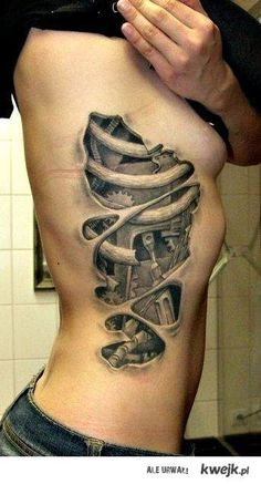 i think having a tattoo that looks like it is under the skin would be cool...not this but this is sick #tattoo