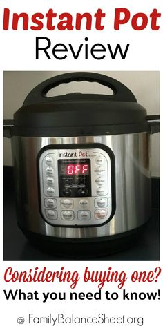 The Instant Pot has taken the home cooking community by storm. Have you considered buying one too? Here's my experience so far! Best Money Saving Tips, Saving Money, Balance Sheet, Instant Pot Dinner Recipes, Inexpensive Meals, Home Economics, Frugal Tips, What To Cook, No Cook Meals