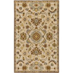 World Menagerie Topaz Hand-Tufted Beige Area Rug Rug size: 2' x 4'