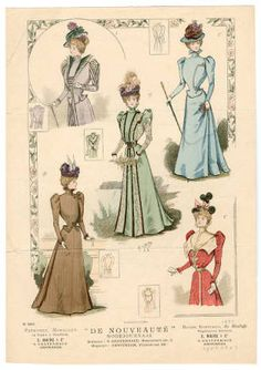 1895-1898, Plate 138 :: Costume Institute Fashion Plates