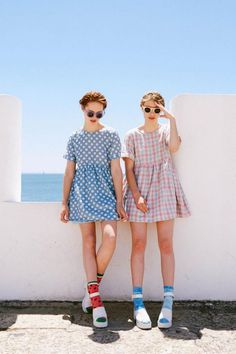 Petits pois, vichy et chaussettes imprimées <3 / Dots, braids + printed socks - regressive fashion