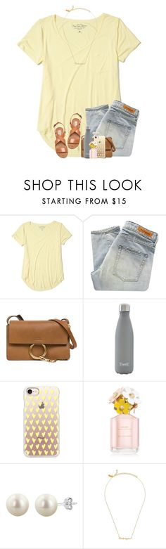 """sistas & i makin' tacoooss"" by twaayy ❤ liked on Polyvore featuring Hollister Co., Denham, Chloé, S'well, Casetify, Marc Jacobs, Kate Spade and Steve Madden"