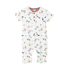 Baker by Ted Baker Babies white toucan and beach printed romper suit- at Debenhams.com £18