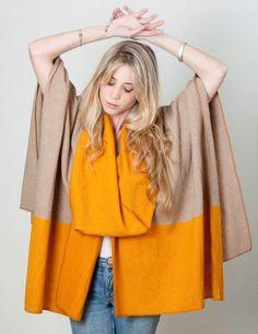Kimono cardigan Boho Poncho ruana Infinity scarf by texturable, #ponchos #kimono #ruana #merinowool #falltrends #autumn