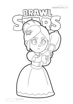 Piper from Brawl Stars coloring page Star Coloring Pages, Boy Coloring, Coloring For Kids, Coloring Books, Profile Wallpaper, Star Wallpaper, Blow Stars, Hidden Pictures, Star Art
