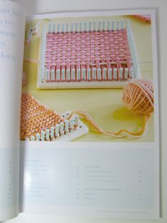 Martha Stewart tries her hand at Loom Knitting~