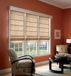 Blackout Roman Shades will block glare and allow you to sleep through the bright morning sunlight.