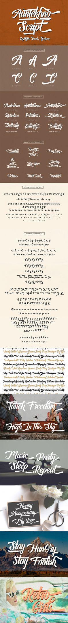 Auntekhno Script - Calligraphy Script