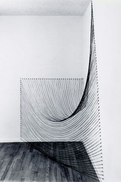 Dianne Romaine | Installation with Black String (Claremont Studio, 1980) | 2011