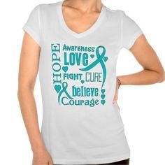 Gynecologic Cancer Hope Words Collage