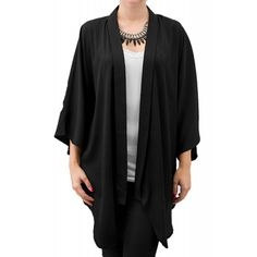 Blazer Dama ONLY Voran 2/4 Kimono Black Kimono Top, Blazer, Tops, Women, Fashion, Moda, Fashion Styles, Blazers, Fashion Illustrations