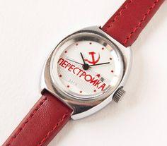 Mechanical watch Zarja/Perestroika women wristwatch by SovietEra, $41.00