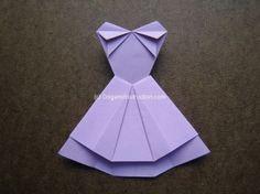 Origami Instruction Trapeze Dress 1