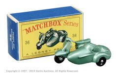 Matchbox Regular Wheels No.36b Lambretta Scooter & Sidecar