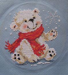 "ru / ruz-tatyana - The album ""My embroidery"" Cross Stitch For Kids, Cute Cross Stitch, Cross Stitch Animals, Cross Stitch Designs, Cross Stitch Patterns, Cross Stitching, Cross Stitch Embroidery, Embroidery Patterns, Theme Noel"