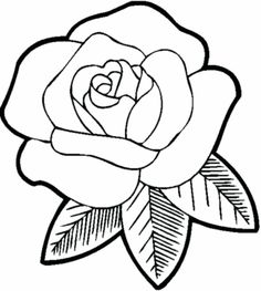 Flower Coloring Sheets, Rose Coloring Pages, Printable Flower Coloring Pages, Coloring Pages For Girls, Coloring Pages To Print, Coloring Books, Simple Coloring Pages, Easy Butterfly Drawing, Rose Drawing Simple