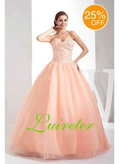 Attractive Ball Gown Floor Length Sweetheart Pink Organza Beading Wedding Dress