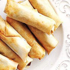 East meets West in these tasty little bites. We've doubled up on the spring roll wrappers, which provides extra crunch and prevents the filling from ...