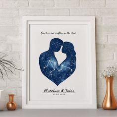 Zodiac Constellation Wall Art / Constellation Art Print / Personalized Zodiac Art / Zodiac Art Print Looking for romantic gift for couple? ❤️ Surprise your partner with personalized zodiac constellation wall art print 🌌🌠 . Constellation Art, Zodiac Constellations, Wedding Guest Book, Wedding Art, Wedding Photos, Celestial Wedding, Wedding Gifts For Couples, Zodiac Art, Couple Gifts