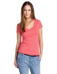 edc by ESPRIT Damen T-Shirt Regular Fit, 032CC1K025