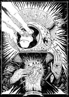 Holy Monkey by YUF, via Behance