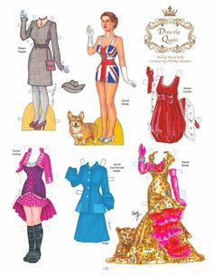 The latest Paper Doll Studio is a honey of an issue! More than 30 artists took on the theme of Queens, and Jenny did a great job of organizing the submissions. David Wolfe provided the doll of Queen Elizabeth that artists costumed in everything from traditional robes to modern dress. 2 of 3