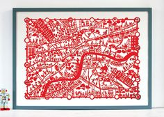 Paper cut map of London (have paris and new york too)...oh.my.word...