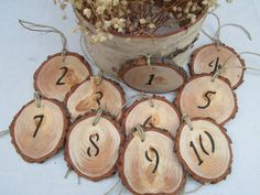 Reception Numbers Table Decorations by DivineRusticCreation, $57.00https://www.etsy.com/shop/DivineRusticCreation?ref=si_shop