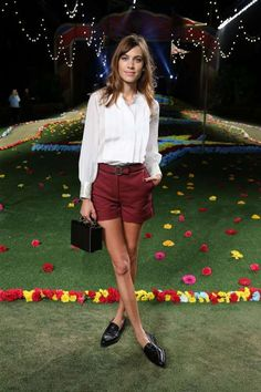 Alexa - In a pair of Tommy Hilfiger burgundy shorts with a white shirt and black loafers at the Tommy Hilfiger Women's fashion show during Mercedes-Benz Fashion Week Spring 2015 in New York City on Sept. 8, 2014.