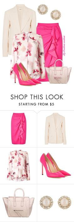 """""""EVE"""" by evelina-er ❤ liked on Polyvore featuring Miss Selfridge, Khaite, Jacques Vert, Jimmy Choo and Kate Spade"""