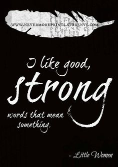 Little Women Print Literary Quote Typography by NeverMorePrints, $15.00