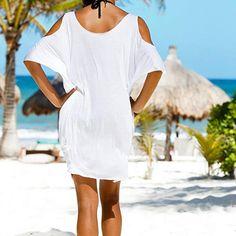 Damen Sommerkleid FORH Frauen Sexy Off Schulter V-Ausschnitt Minikleid  Elegant Buchstaben Gedruckt Robe Kleid 77d0e22973