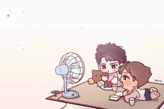 Uploaded by rin. Find images and videos on We Heart It - the app to get lost in what you love. Exo Anime, Manga Anime, Sekai Exo, Kim Kai, Exo Cartoon, Kaisoo, Chanbaek, Exo Couple, Xiuchen