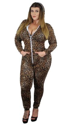 d9e1a361658 Plus Size Laid Back Hooded Jumper (Leopard) 1x 2x 3x – Boughie Plus Size