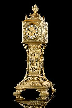 Gorgeous Antique Japy Freres Gilt Bronze Clock Approx 1880 | eBay