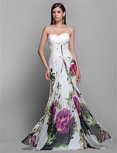 vestido de fiesta novia vaina / columna de tren cepillo de g... – EUR € 131.99
