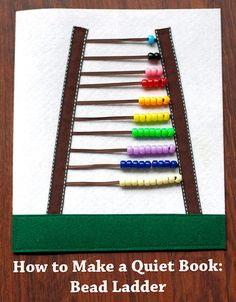 Quiet book page ... counting ladder :-)