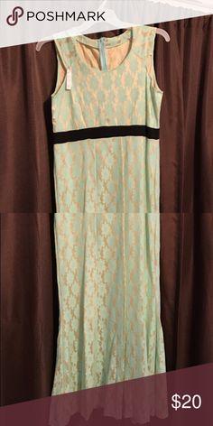 Semi formal Flesh tone and mint Dresses Midi