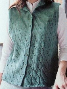 Knit Vest Models The Most Beautiful 2018 Knit Vest Samples Baby Cardigan Knitting Pattern Free, Knitting Paterns, Knit Patterns, Knit Cardigan, Baby Knitting, Pullover Design, Sweater Design, Crochet Woman, Knit Crochet