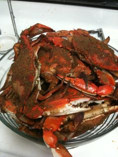 Steamed Crabs in Anchored...who doesn't love seafood? Or old bay?