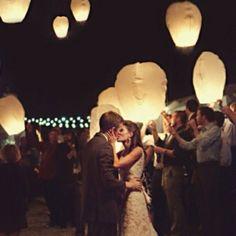 """Floating"" paper lanterns"