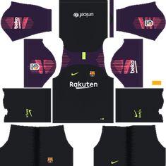 Barcelona Goalkeeper Away Kit 2018-19 Dream League Soccer Kits URL 512x512  Real Madrid Kit 6b67d6586