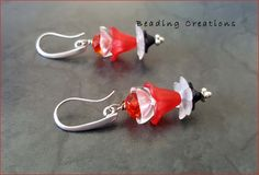 Acrylic Lucite Flowers and Crystals Handmade Earrings available for sale. If you would like a custom made pair with the choice of your colors or design, mail me at: beadedcreations716@gmail.com