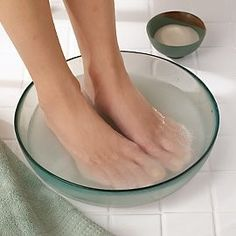 Foot Soak to Remove Dead Skin: Mix 1/4 cup mouthwash, 1/4 cup vinegar, 1/2 cup warm water, Soak feet for 10 minutes, Take out & dead skin practically wipes off.