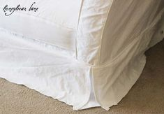How To Make A Slipcover Part 2: Slipcover Reveal