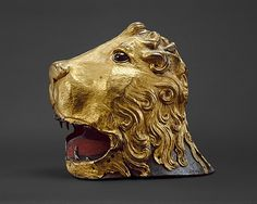 Sallet in the Shape of a Lion's Head about 1460 Italian This helmet is the earliest surviving example of Renaissance armor all'antica (in the antique style). The helmet represents the head of the Nemean Lion, whose pelt was worn as a headdress and cloak by the mythological hero Hercules. http://www.metmuseum.org