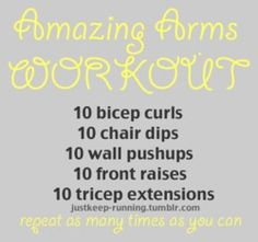 Amazing arm workout
