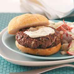 This is a great burger- moist and flavorful, and despite the ingredients, NOT hot or spicy.....the original recipe called for only a tablespoon of a beaten egg per pound of ground beef, and that's what I still use.......The Perfect Hamburger