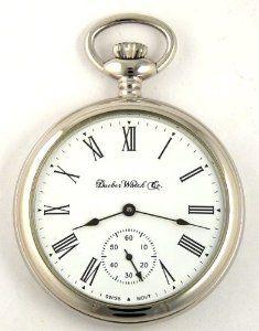 Dueber Swiss Mechanical Pocket Watch, High Polish Chrome Open Face Case, Assembled in USA! Dueber Watch Co. $624.99
