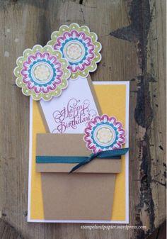 SU Blumentopfkarte, flower pot card
